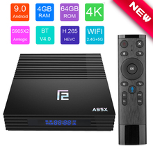 A95X F2 Smart TV Box Android 9.0 4GB 64GB Amlogic S905X2 4K Wifi Google Play Netflix Set top Box Media Player Android Box 9.0 недорого