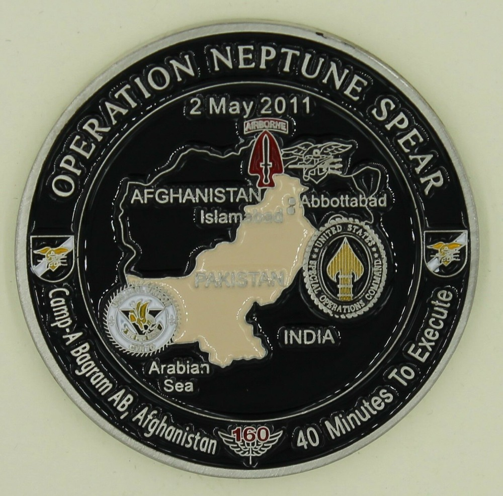 Operation NEPTUNE SPEAR 160th SOAR SEAL Team 6 Navy Commemorative Challenge Coin (2)