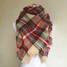 Plaid Scarf Cashmere-Tartan Girls Kids Shawls Blanket Bufandas Warm Designer Winter Children's
