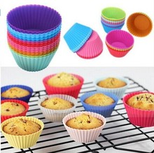 HFIL Hot 12 pcs Silicone Cake Cupcake Cup Tool Bakeware Baking Mold and Muffin for DIY