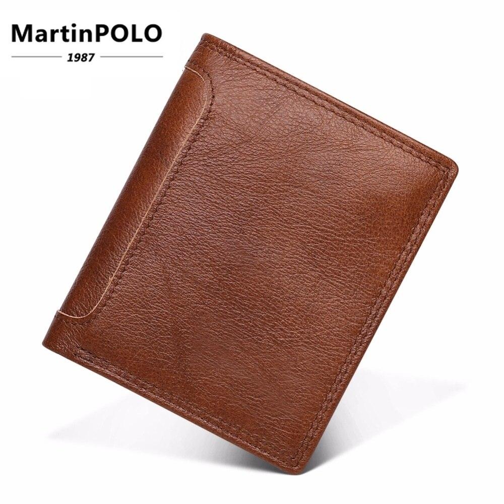 2019 portefeuilles hommes Vintage en cuir véritable portefeuilles court porte-monnaie portefeuille marque cadeau pour hommes support de carte rfid mâle sac à main J2023