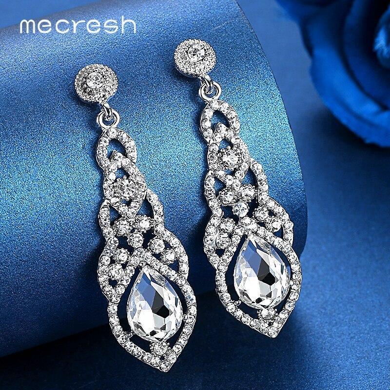 Купить на aliexpress Серьги-подвески с кристаллами в виде кристаллов для женщин, серебряные, черные, золотые, корейские свадебные висячие серьги 2018, модные ювели...