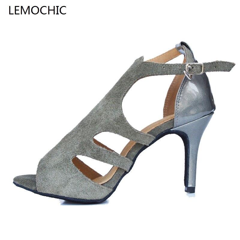 LEMOCHIC semelle souple femme modèles performance professionnel classique double pas latin tango salle de bal chaton talons chaussure de danse