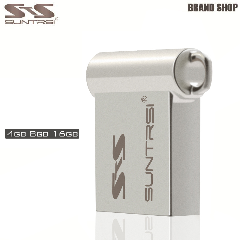 Suntrsi USB Flash Drive Original Steel Metal Pendrive Wholesale Pen Drive Customize Logo Printing Flash Drive USB Stick