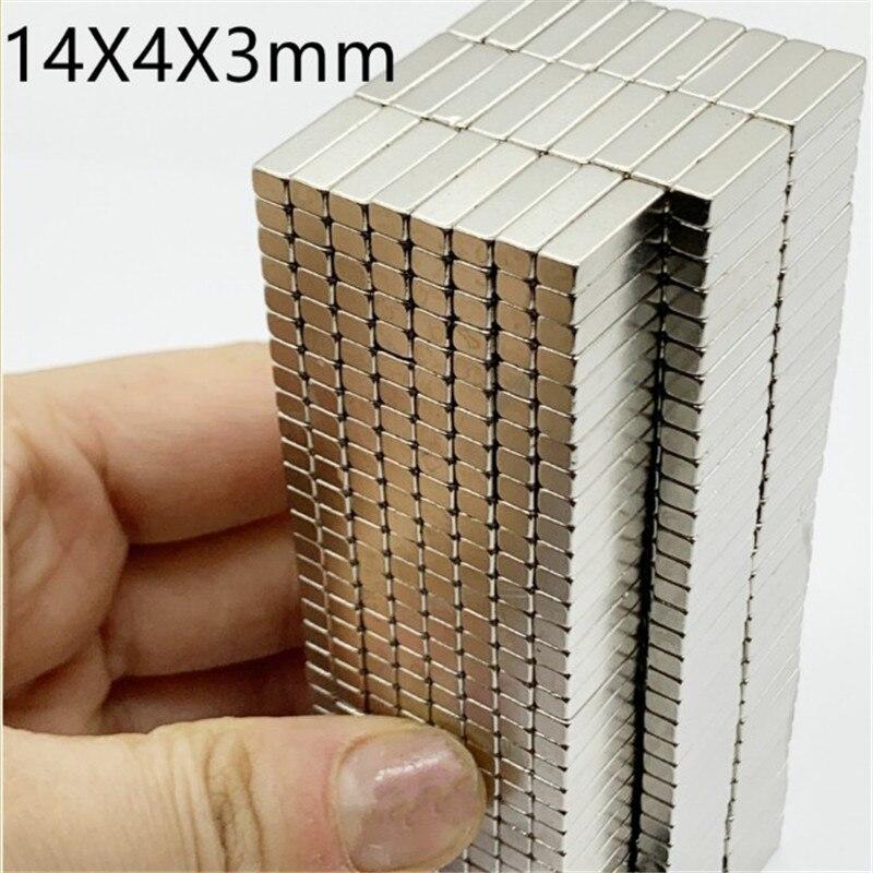 Zion  5/10/50pcs 14x4x3mm Super Strong Permanent Magnet N35 Block Rare Earth NdFeB Magnet 14*4*3mm