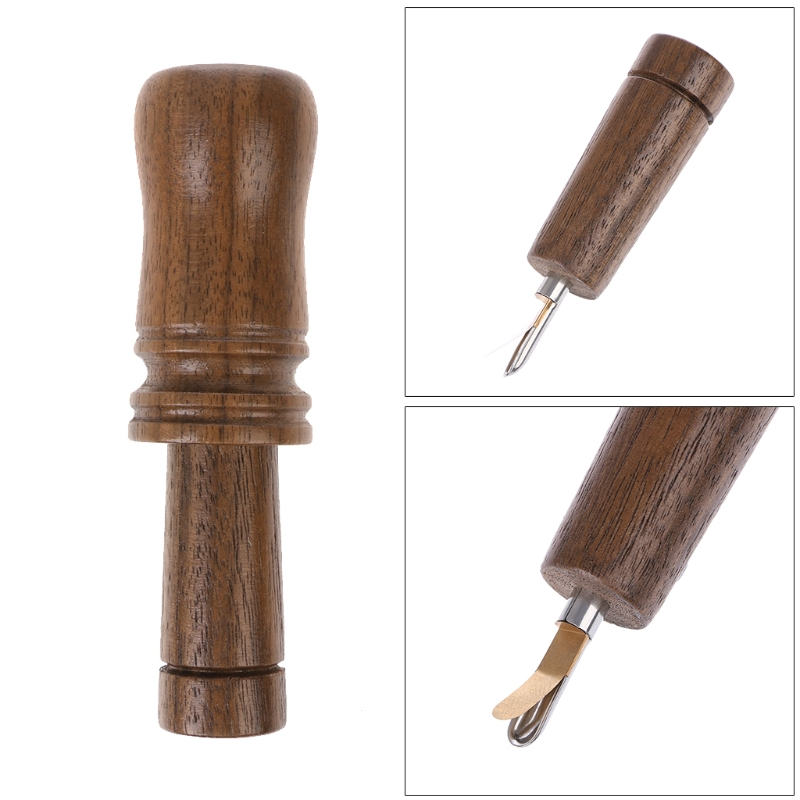 Outdoor Whistle Wooden Hunting Decoy  Hunter Brown Oak Wood Blowing Duck Caller  Water Resistant Imitation Sound Whistle