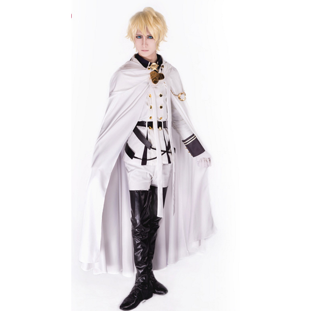 Anime Owari No Seraph Mikaela Cosplay Costume Seraph Of The End Vampire Mikaela Hyakuya Costume Full Set Wig Optional