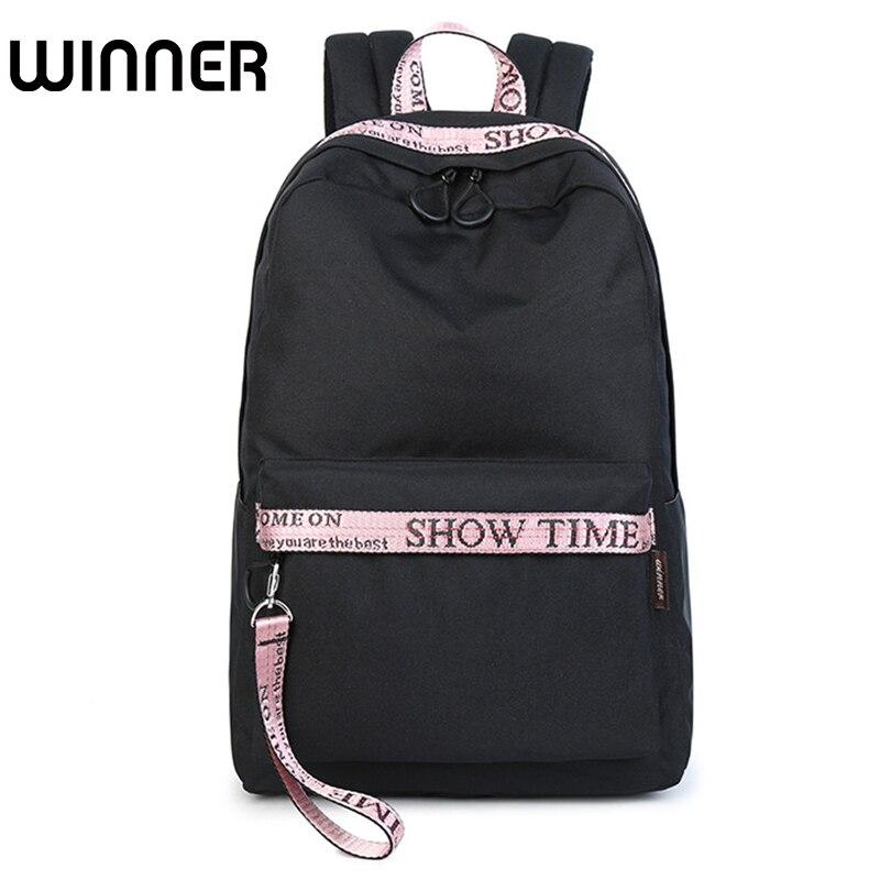 Fashion Women Waterproof Fabric Laptop Backpack Solid Youth Large Capacity Ulzzang Girls Teenagers School Bag