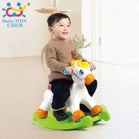 פוני המוסיקלי חינוכי נדנדה נדנדה סוס לרכב על גלגלים עם מוסיקה/אור/הזזה צעצוע לילדים ללמוד ABC, צורות ומספרים