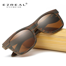 EZREAL Natural Wooden Sunglasses Men Bamboo Brand Designer Wood Polarized Sun Glasses Oculos De Sol Drop Shipping