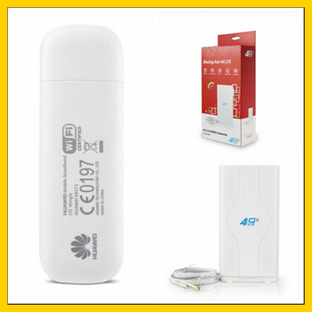 E8372 150Mbps Modem 4G Wifi E8372h-153 4G LTE Wifi Modem Support 10 wifi users with high gain 2M cable  LTE antenna