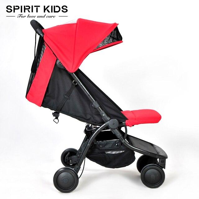 Высокое качество ультра легкий 5.9 кг четыре цвета Детские коляски 4 бегун ультра-легкий складной коляски детские портативный ребенок автомобиль зонтик