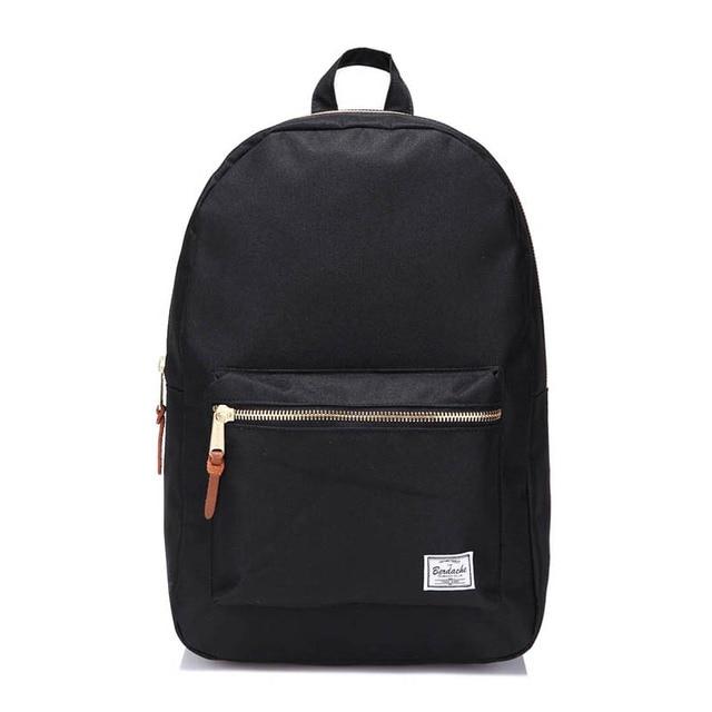 bbb0dc53ec0 Gold zipper black backpack student school bag oxford fabric herschel supply  settlement backpack