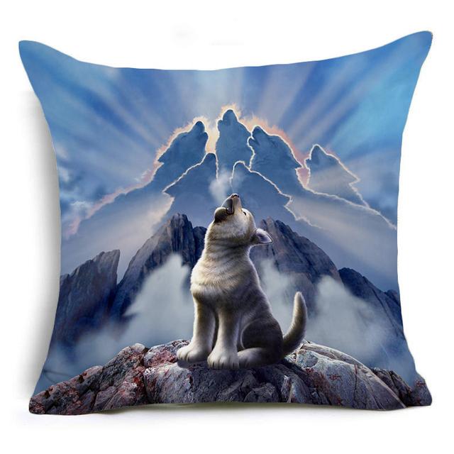 Hyha Cartoon Pillowcase Pug Creative Rabbit Hand Shadow Pig Jerry LoFaro Leader Pillow Cases Home Animal Fox Throw Pillows