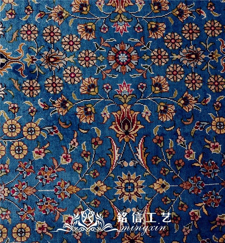 5.9 'x8. 2' Seven Mountain Flower tapis de soie persan noué à la main tapis Oriental fait main - 2
