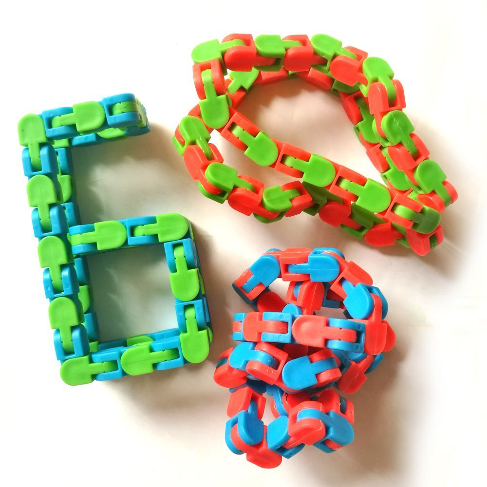 Children Funny Fidget Fiddle Sensory Toy Wacky Tracks Stress Relief Educatiaon Block