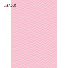 Laeacco Pink Chevron Baby Newborn Children BirthdayPhotography Backgrounds Customized Photographic Backdrops For Photo Studio