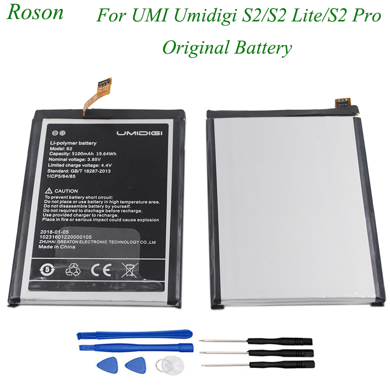 Roson for UMI Umidigi S2 S2 Lite S2 Pro Battery <font><b>5100mAh</b></font> 100% New Replacement Parts Phone Accessory Accumulators With Tools image