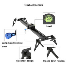 NewProfessional 80cm/31.5″ Bearing Video Track Slider Dolly Stabilizer System for DSLRCamera Camcorder / Better Than Sliding-pad