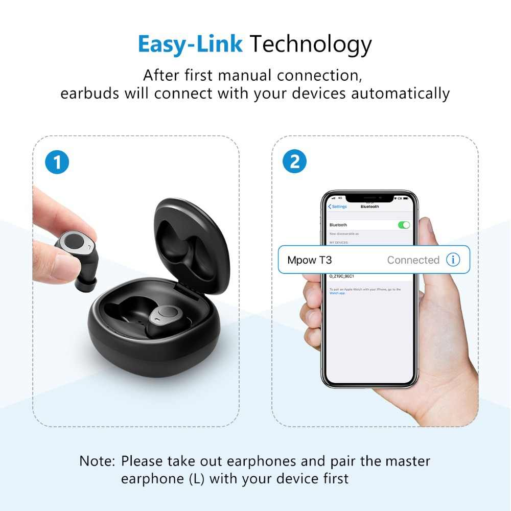 6ec6f81e3c2 ... Mpow T3 TWS Bluetooth 5.0 Wireless Earphones 24H Playing Time TWS  Headset Earbuds With Mic Charging