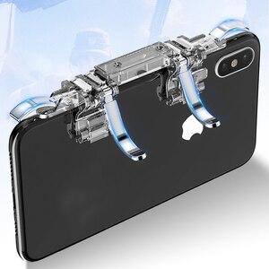 Rovtop металлический K19 мобильный телефон, игровой триггер для PUBG, мобильный геймпад, кнопка Fire Aim Key L1R1, игровой шутер PUBG, контроллер Z2