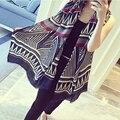 Новые 2016 шарф женщин мягкий теплый лоскутное алмаз национальный ветер пейсли пашмины гуд клобук теплая зима шаль шарфа WJ8010