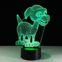 Lovely Puppy Desk Night Lights Baby Room Cartoon 3D Nightlight Kids Bed LED Lamp Sleeping Night