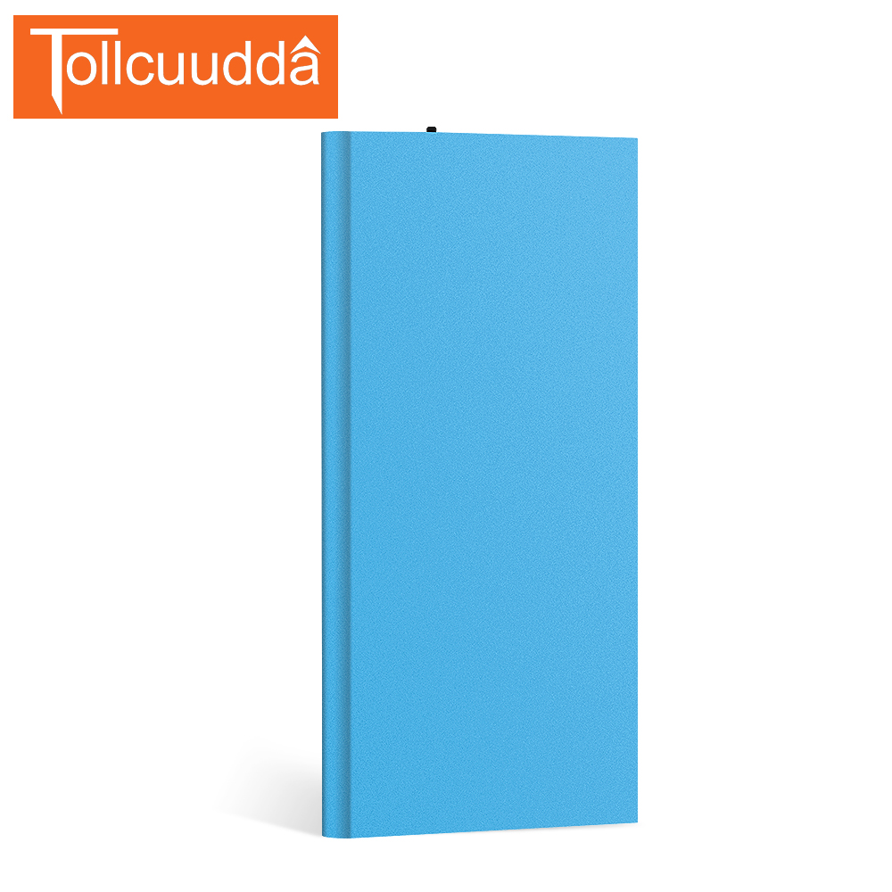 Tollcuudda 7000mah metal power bank dual usb external battery portable charger bateria externa pack for iphone