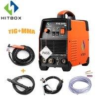 HITBOX Tig Welder WSE 200A TIG MMA 2 IN 1 Argon Tig 2T 4T Control Welding Machine Stainless Steel Carbon Steel IGBT Technology