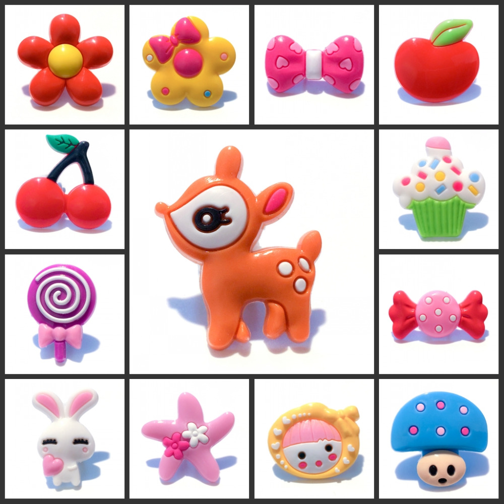 4pcs/lot PVC new design color button shoe charms fruit bowknot lovely animals Croc JIBZ shoes accessory small gift for kid party цена