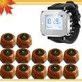 Banco Restaurante Wireless Camarero Sistema de Llamada de Servicio, 1, 12 Botones, blanco Muñeca Buscapersonas Inalámbrico de Llamada del Camarero