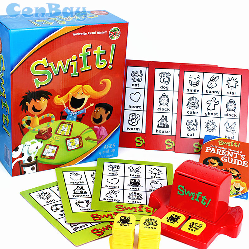 Kids Swift Bingo Board Game Learning English Word Cards Educational Toys English Word Picture Matching Game for Children Gift cool educational toys dump monkey falling monkeys board game kids birthday gifts family interaction board game toys for children