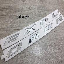 3D ABS EXPLORADOR Cartas Capucha Emblema Del Cromo Plateado Negro Etiqueta Engomada Del Logotipo para 2011 2012 2013 2014 2015 2016 para Ford Explorer Sport