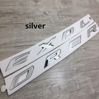 3D ABS EXPLORER Letters Hood Emblem Silver Chrome Black Logo Sticker For 2011 2012 2013 2014