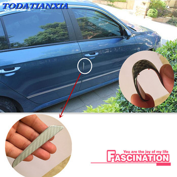 4pcs Car Door Protector Side Edge Protection stickers For tiguan skoda yeti passat b6 bmw e30 e60 mitsubishi lancer skoda superb image