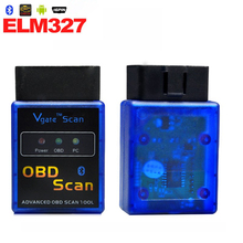 2Pcs OBD2 ELM327 Bluetooth V1.5 Car-detector ELM 327 Diagnostic-tool OBDii OBD 2 for volvo Auto Scanner Adapter Diagnostic Tool