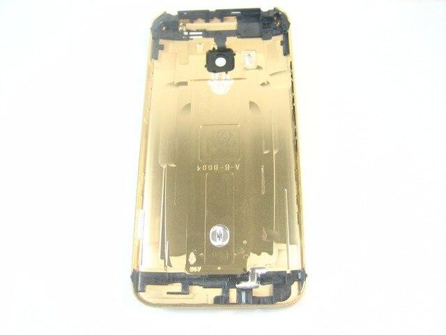 Замена Черная Задняя Крышка Батареи Жилья для HTC One M9 Золота