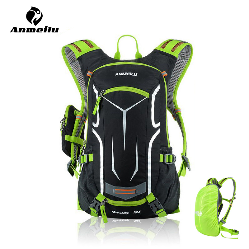 ANMEILU 18L Waterproof Bicycle Backpack,Cycling Bike Sport Bag,Outdoor Camping Hiking Climbing Bag With Rain Cover, No Water Bag anmeilu 18l cycling backpack waterproof sport bag mtb cycling hydration water bags outdoor climbing hiking rucksack bicycle bag
