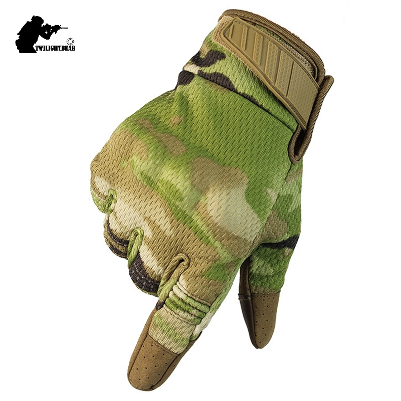 New Army Military Touch Screen Tactical Glove Breathable Outdoor Paintball Airsoft Combat Bicycle Riding Camo Full Finger Gloves