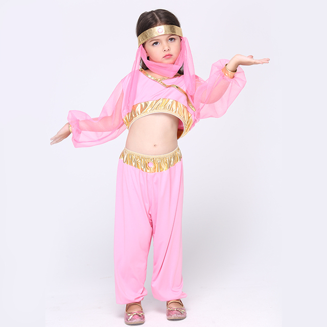 c2085259d Children's Wear India Girls Dance Costume Cosplay Clothing Children Kids  Halloween Nation Style Princess Dress Baby Girl Clothes