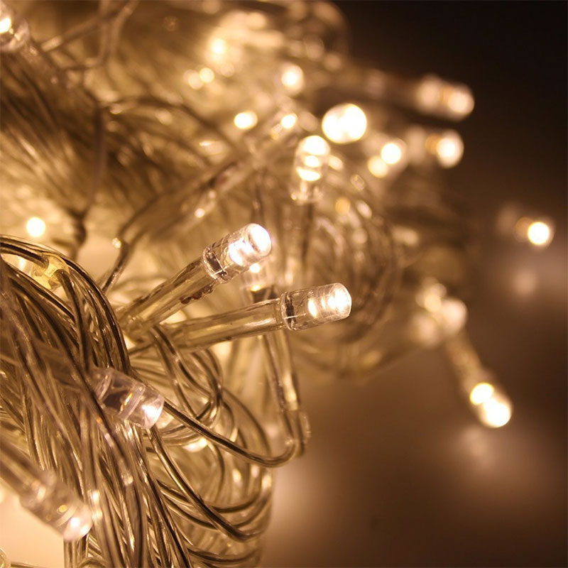 DVOLADOR 3mx3m 300LED Icicle String holiday Lights Outdoor Holiday Christmas Wedding xmas Fairy Lights For Garland party Light