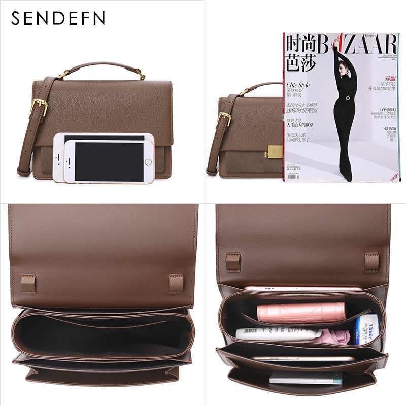 SENDEFN модный из кусочков кожи женская сумка с клапаном женская маленькая сумка через плечо винно-красные маленькие сумки из коровьей кожи дизайнерские сумки ZD7188-5