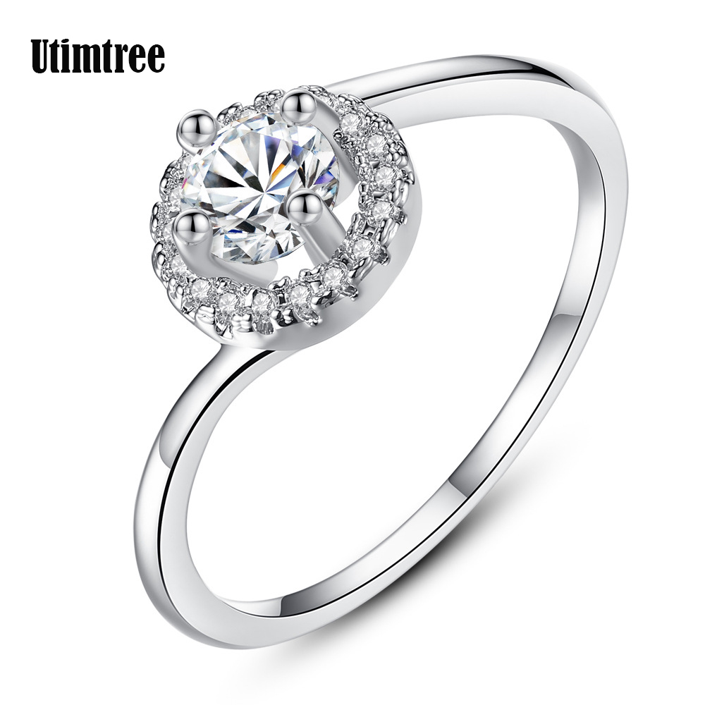 Engagement Rings On Sale Newcastle: Utimtree Hot Sale Crystal Wedding Rings For Women
