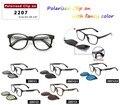 2016 magnética clip en gafas de sol polarizadas TR90 Gafas ultra-ligero Marco de Los Vidrios de Sol Gafas de grau gafas
