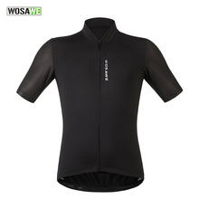 WOSAWE New Men's Cycling Jersey Comfortable Bike/Bicycle Shirt Black White Quick-dry SportsWear Cycling Clothing