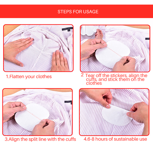 50Pcs Disposable Armpit Sweat Pads Armpit Mats Summer Deodorants Clothing Gaskets from Sweat Absorbing Underarm Anti Sweat Pads