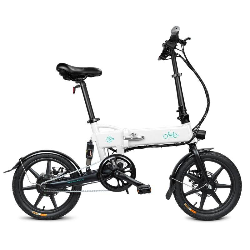FIIDO D2 16 pouces vélo électrique pliant 7.8AH 250 w Mini vélo électrique intelligent pliant en alliage d'aluminium cyclomoteur EU Plug lumière LED