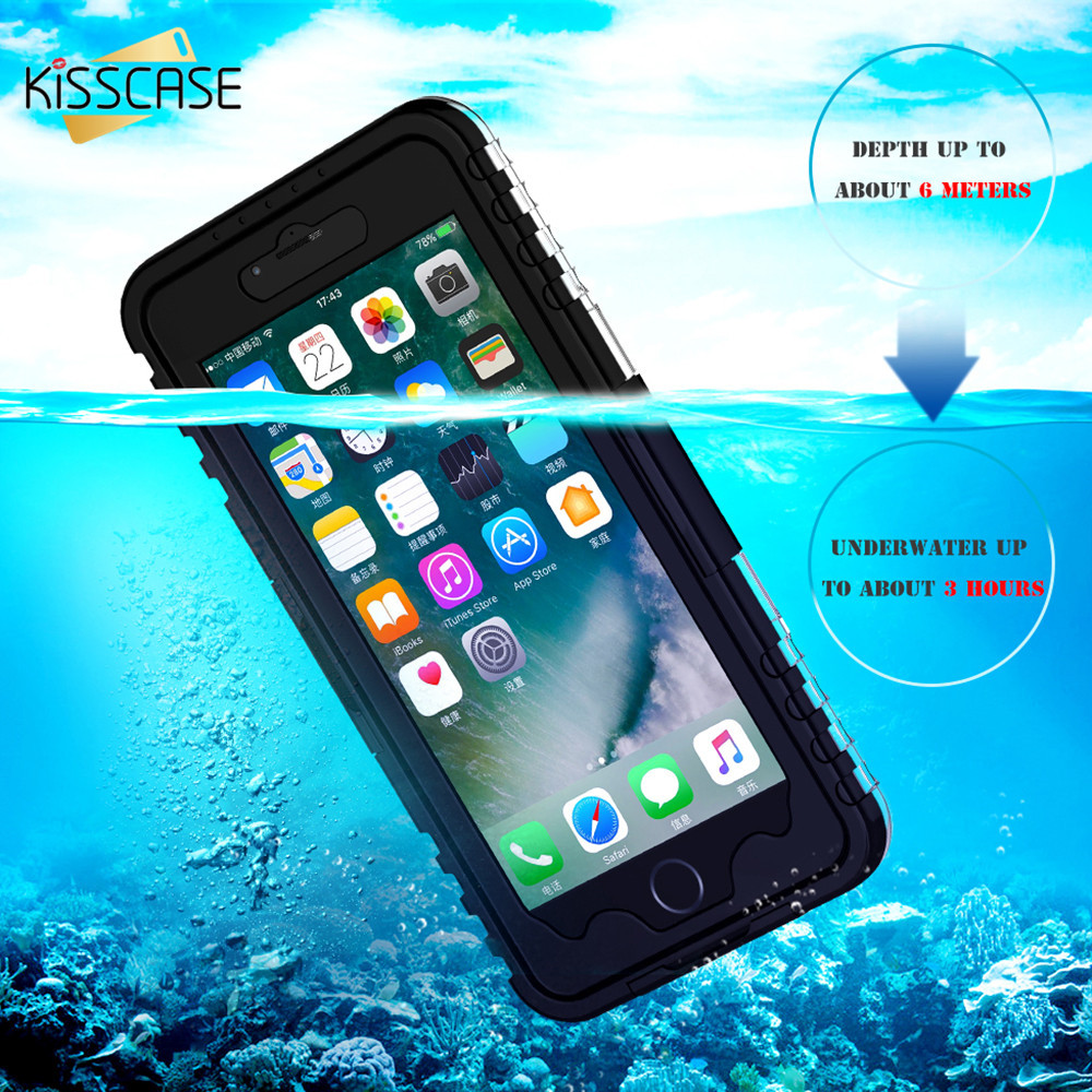 KISSCASE Waterproof Case for Samsung Galaxy Note 2 3 4 5 S8 Plus S7 S6 Edge Cover IP68 Diving Phone Case For iPhone 6 6s 7 Plus