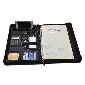 Image 2 - ファイルフォルダ A4 fichario リングバインダーケースドキュメント事務マネージャー padfolio ファイルキャビネットホルダージッパーブリーフケースバッグ