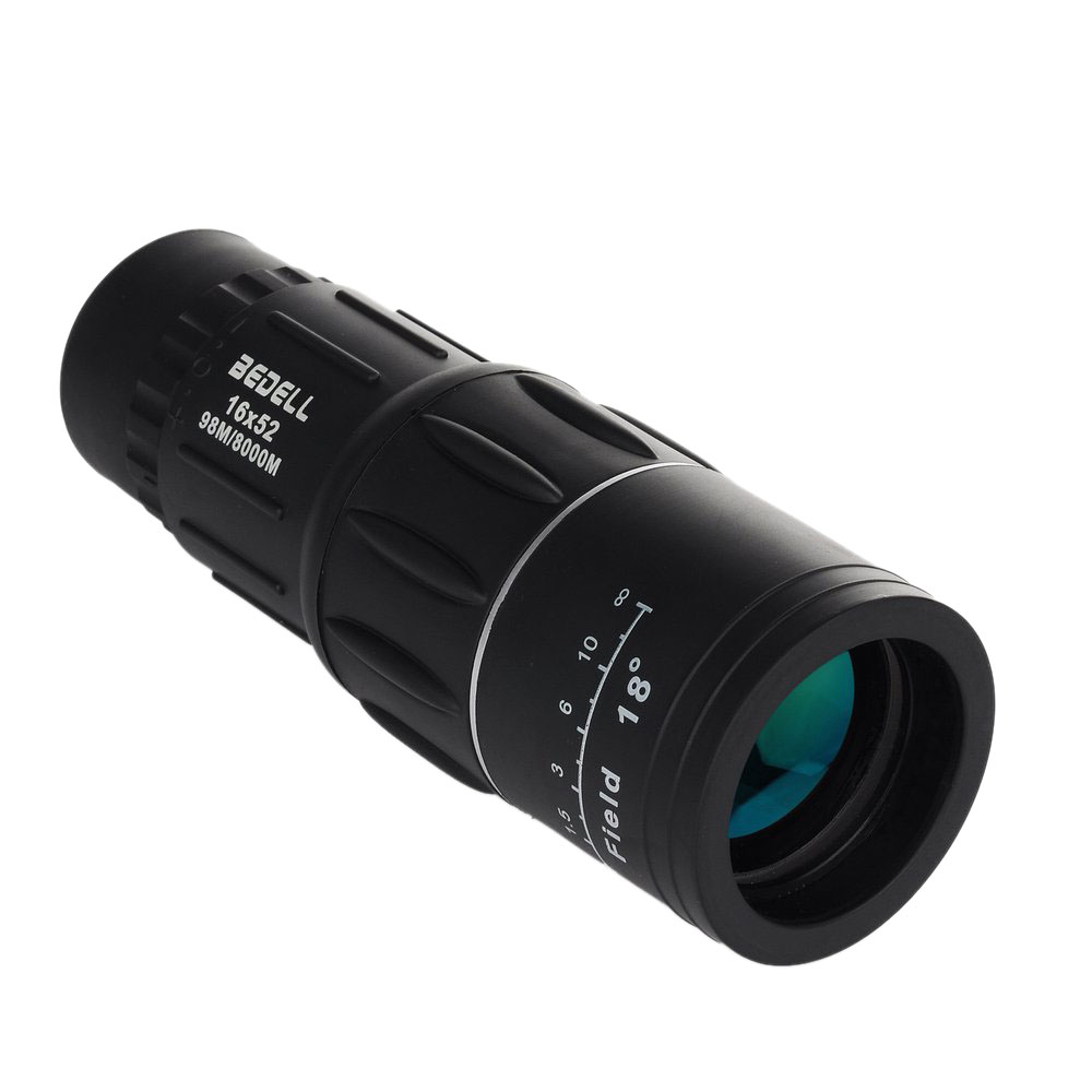 BEDELL Monocular Telescope 16x52 Waterproof Zoom Telescope Double Focus High Clear